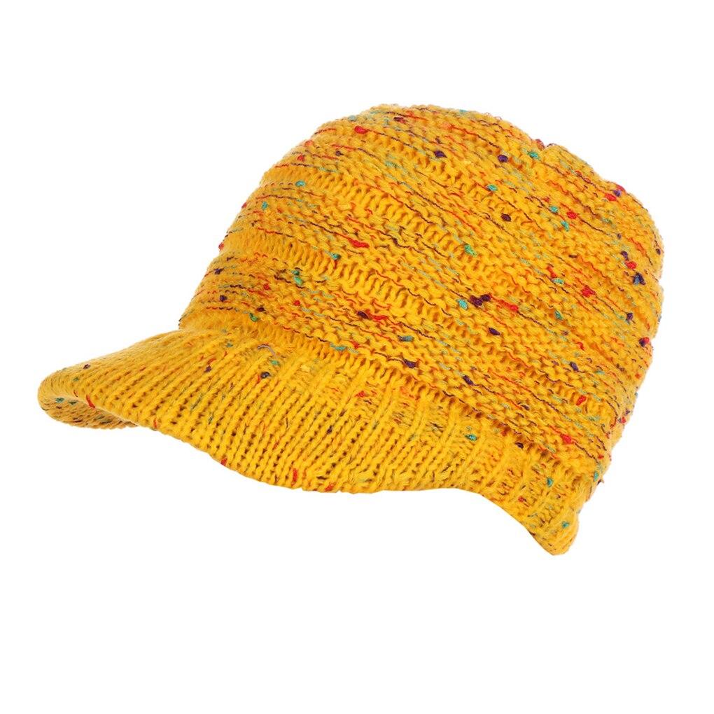 2019 las mujeres de punto el sombrero chica Casual de ganchillo ... ba459a22289
