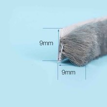 9mm x 9mm Self adhesive dustproof window door brush seal strip windproof weatherstrip draught excluder self adhesive sealing wool pile weather strip felt draught excluder sliding door window brush seal 9mm x 23mm 9 x 23mm white