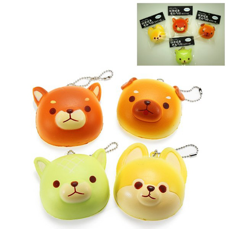 Hot Sale Super For Squishy Cute Dog Soft Mini Animal Hanging Drop Slow Rising Decor Toy Pendant Phone Straps