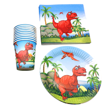 60pcs/lot Dinosaur Theme Decoration Napkins Cups Happy Birthday Events Party Tableware Set Baby Shower Boys Kids Favors Plates