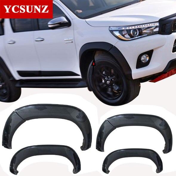 2018 en fiber de carbone fender tarifs Pour Toyota Hilux SR5 2017 Élargisseurs D'ailes Accessoires Garde-Boue Pour Toyota Hilux 2016-2018 YCSUNZ