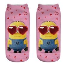 2019 New 3 pairs cotton despicable Me funny socks Sexy cute Minions streetwear happy women korean style mujer