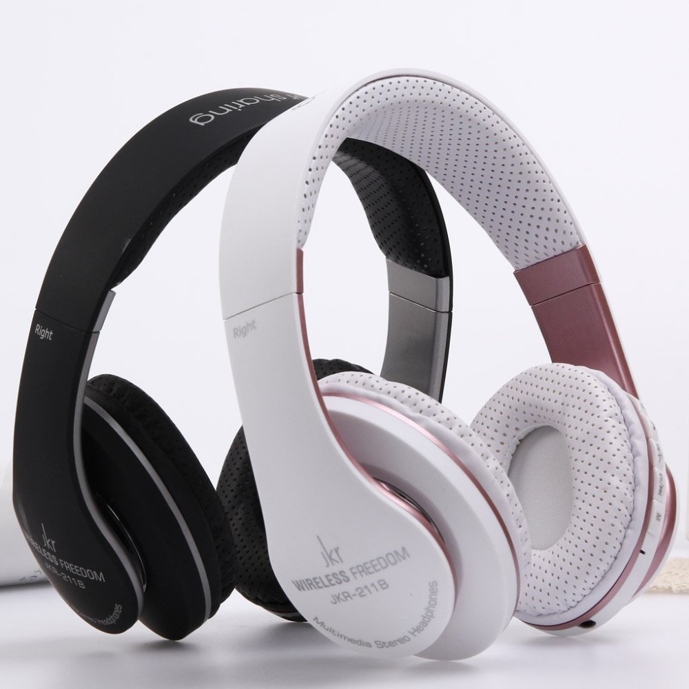 jkr 211b high quality wireless stereo bluetooth headset headphone earphone with mic support. Black Bedroom Furniture Sets. Home Design Ideas