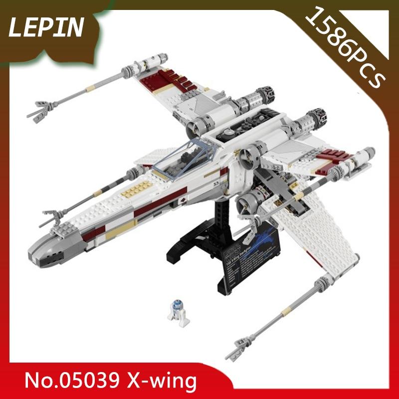 Lepin 05039 X-wing Five-Star Fighter 1586Pcs Star Space Wars Series Assembly Building Blocks For Children Toys 10240 Kids Gift конструктор lepin star wnrs истребитель сопротивления x wing fighter 740 дет 05029