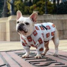 [MPK Dog Wear] футболка для собак с французским бульдогом, одежда для собак, футболка с принтом банок(DC-Cans