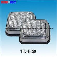 Dempsey 2 шт. 20 светодиодный мигающий аварийный Предупреждение льный светильник для автомобиля 4 дюйма DC12V светодиодный поверхностный монтажный светильник скорой помощи s(TBD-B1S0
