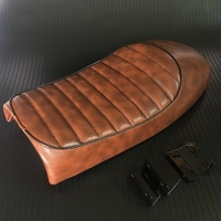 Motorcycle Brown Crocodile Vintage Seat Retro Saddle For Honda CB CL Retro Cafe Racer CG125 CB200 CB350 CB400 CB500 CB750 SR400
