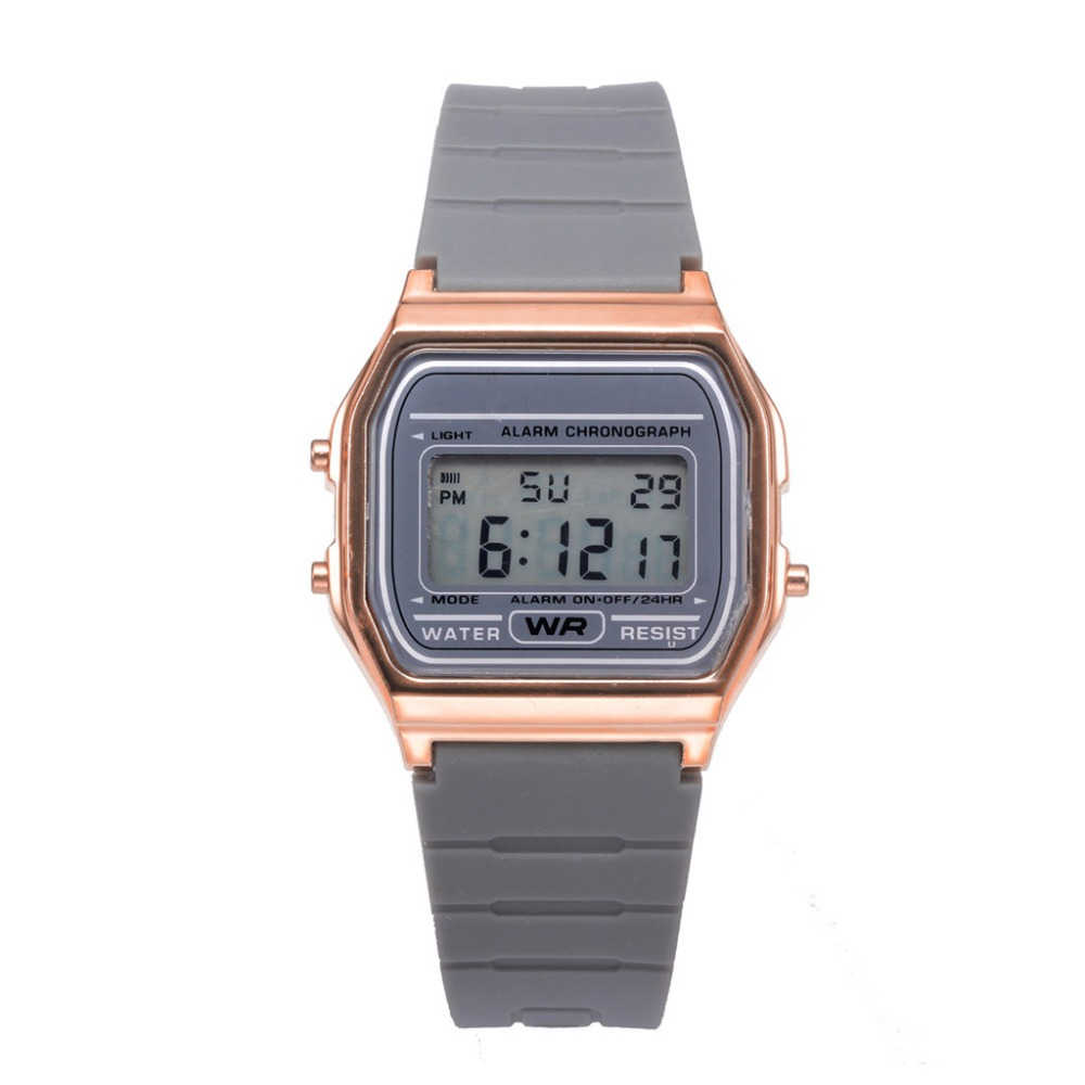 Watch Electronic Rose-Gold Digital Waterproof Femme Women's Montre Couple Fashion Dial