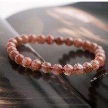 цена Genuine Natural Auralite 23 Red Crystal Round Beads Bracelet Women Men Reiki Stone Canada 7mm Stretch Rarest Bracelet AAAAA онлайн в 2017 году