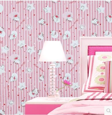 Pink Cartoon Balloon HelloKitty Self Adhesive Waterproof Children S Room Wallpaper Wall Paste