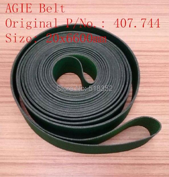 AGIE Belt 407.744 EDM Belt Agie parts 20x6600mm  Wire EDM Machine Spare Parts agie reversion roller 323 334 edm parts agie parts wire edm machine spare parts