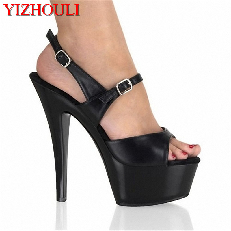 Office & School Supplies Generous Summer New Ultra-thin 15 Cm High-heeled Platform Sandals Party Shoes Black Womens Shoes Catwalk Models Dance Shoes A Wide Selection Of Colours And Designs