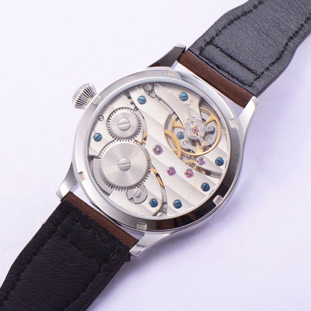 Image 5 - Sterile 44mm Luminous 6497 Hand Winding ST3600 Movement Manual  Machinery Watch men Sapphire Glass 316L SS mechanical  wristwatcheMechanical Watches