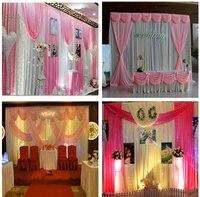 Розовый серебро блестка свадебные фон Шторы этап фоне простыня День рождения фон настраиваемая