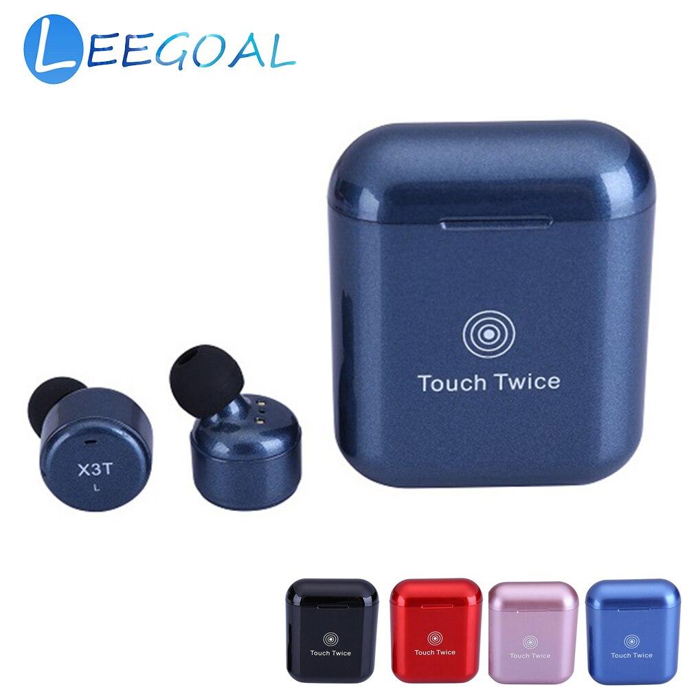 X3T sans fil Bluetooth écouteurs casque Mini Sport sans fil portable écouteurs avec micro étui de charge pour iphone Samsung HUAWEI