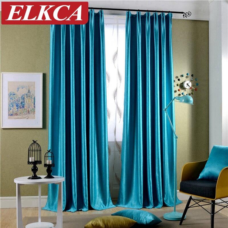 sparkle azul acudieron cortinas para la sala de estar moderna cortinas para el dormitorio gruesas cortinas