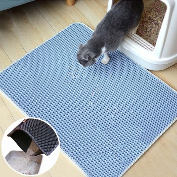 Foldable Waterproof Cat Litter Mat With Exquisite Quilted Edge And Thicken Bottom