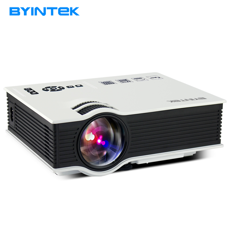 BYINTEK BT400 UC40 Mini LCD Projector 1800 Lumens Support Full HD Video Portable LED Home Theater Cheap HDMI Proyector Beamer 1000lumens 1080p hd home theater lcd pc the hdmi usb pico video game led mini projector projector hd proyector beamer