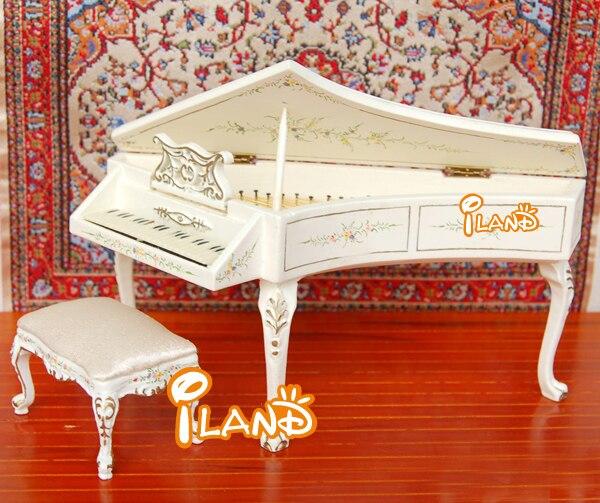 אולטרה מידי משלוח חינם כלי נגינה שרפרף פסנתר כנף 2 יחידות ציור יד עץ מגולף YX-85