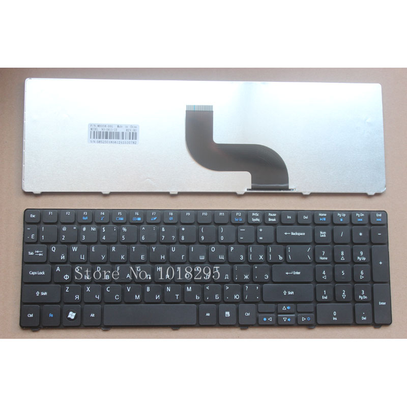 Russian Keyboard for Acer Aspire 5551g 5560G 5560 (15'') 5551 5552 5552g 5553 5553g 5625 5736 5741 RU laptop keyboard NEW black hydraulic buffered rail track three drawer slide drawer slide ball bearing slide rail damping