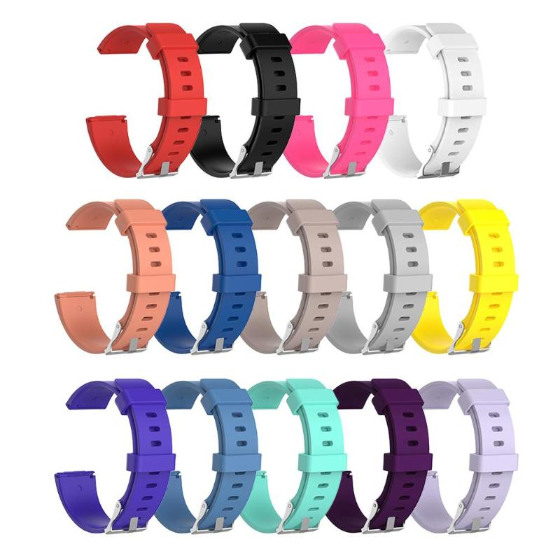 ALLOYSEED S L Size Soft Silicone Replacement Sport Wristband Watch Band Strap for Fitbit Versa Bracelet Wrist Watchband Colorful