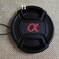Alta Qualidade 49mm 52 55 58 62 67 72 77mm Snap-On Lens Frente Tampa Da Lente da câmera para Sony Alpha A450 A500 A560 A580 A100 A58