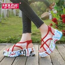 2019 Summer Platform Sandals Fashion Transparent Open Toe Sport Sandals Shoes Wo