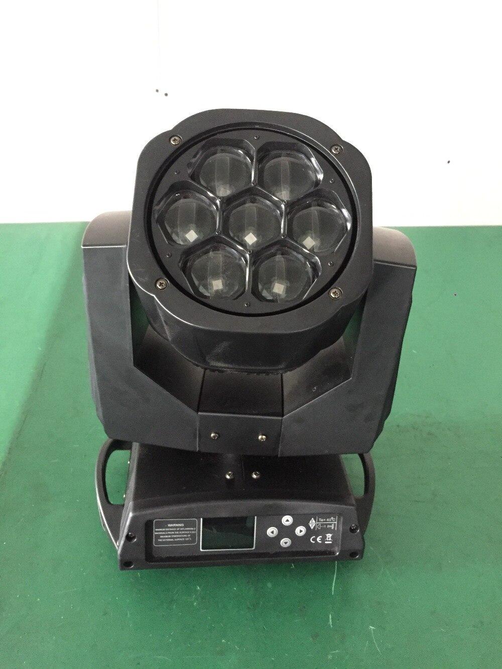4 шт./лот светодиодный мини Би глаз зум перемещающаяся головка 7 шт. * 15 Вт cree RGBW светодиодные огни этапе с flight чехол вращения объектива dmx dj обо