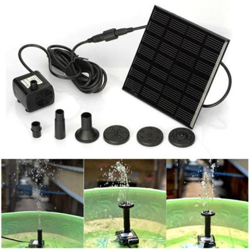 2017 NEW Outdoor Solar Water Panel Power Fountain Pump Kit Pool Garden Pond Watering Submersible 726