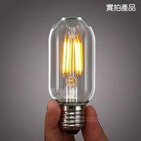 Cổ điển Trang Trí Theo Phong Cách Bóng Đèn Dây Tóc LED 4 Wát T45 Edison Cổ Cơ Sở Đèn E27