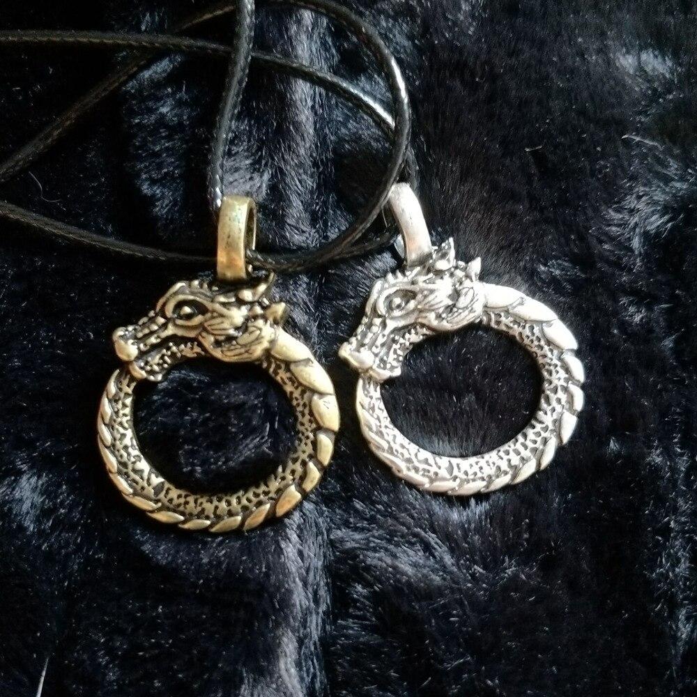 MCSAYS Norse Viking jewelry Dragon Circle Pendant Vintage Necklace ...