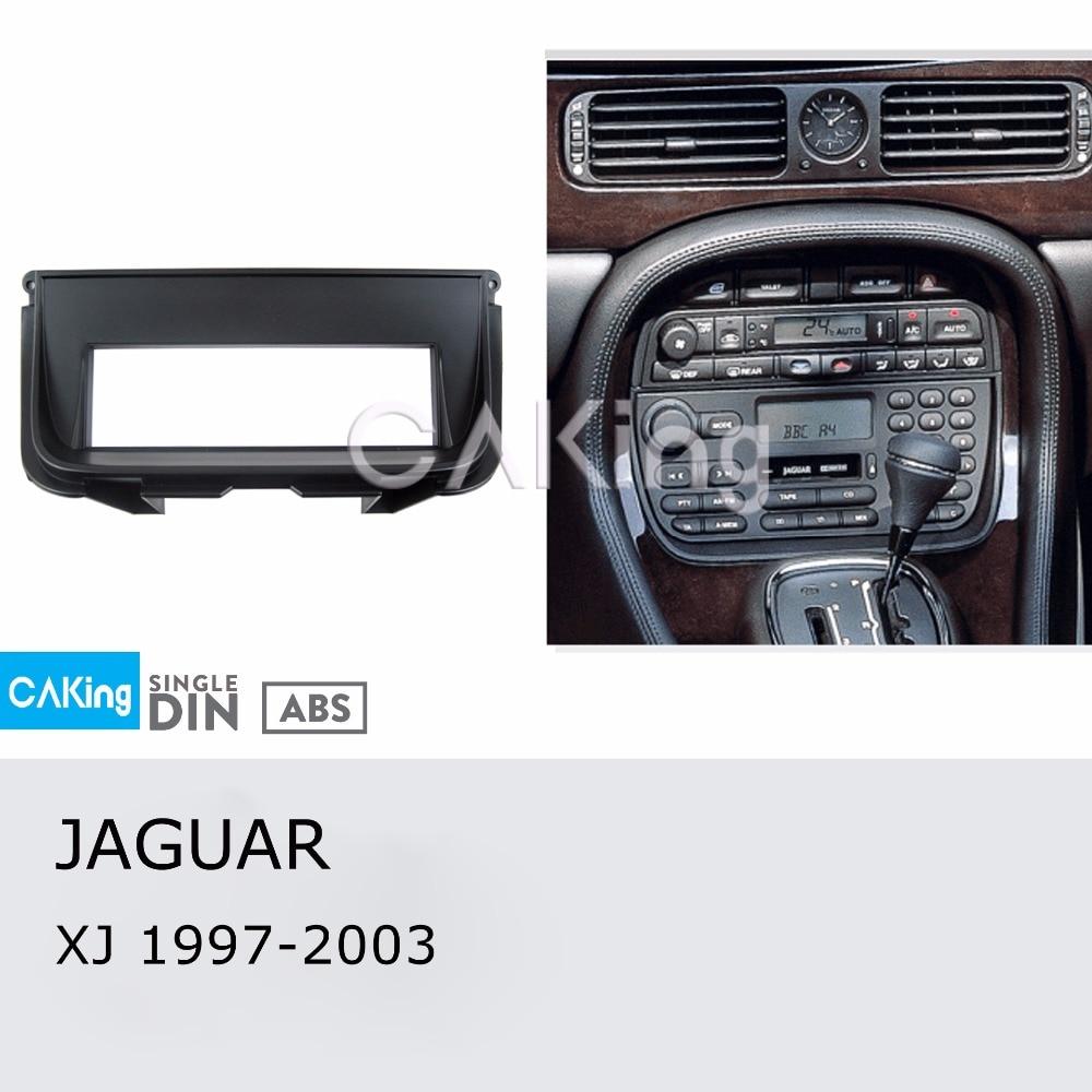 Single Din Car Fascia Radio Panel for JAGUAR XJ 1997 2003 Dash Kit Install Mount Plate