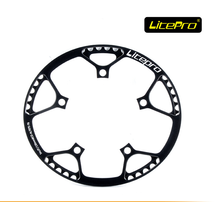 ФОТО Litepro 54t oval chain wheel BMX oval chain ring crankset 20inch folding bike chain ring