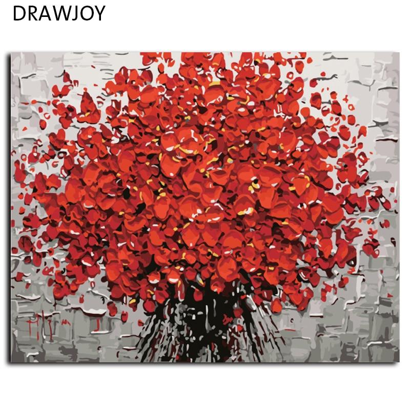 DRAWJOY Pittura di DIY Dai Numeri di Arte Della Parete Pittura A Olio Digitale Su Tela di canapa Senza Cornice Pictures Home Decor G431 40*50 cm