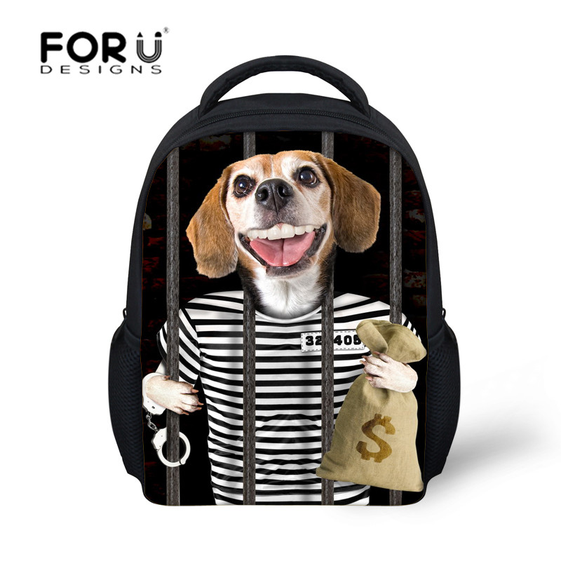 fashion book bags for kindergarten girls and boys,dog prints schoolbags for kids,backpacks for children school bags free ship