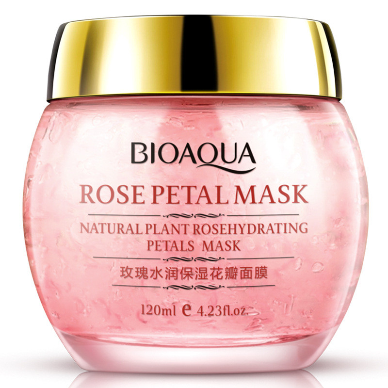 BIOAQUA Rose Petals Whitening Moisturizing Face Mask Nourishing Fade Out Fine Lines Anti Aging Acne Treatment Blackhead Products in Treatments Masks from Beauty Health