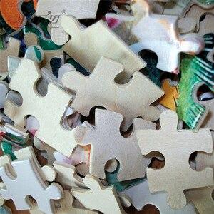 Image 5 - מיכלאנג לו עץ פאזלים 500 1000 חתיכות עם אתה כל הדרך קריקטורה חינוכיים צעצוע דקורטיבי ציור בית תפאורה