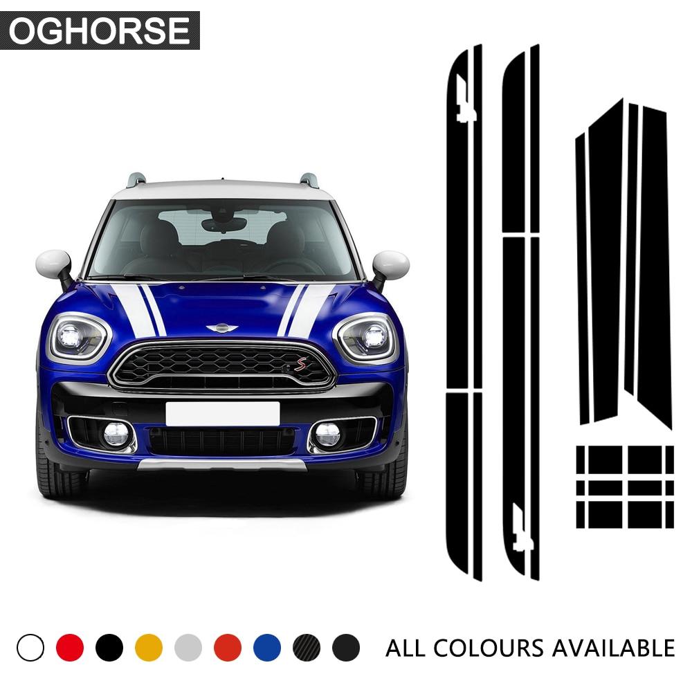 Car Hood Stripes Trunk Bonnet Rear Body Kit Decor Door Side Stripe