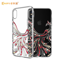 KAVARO For IPhone X Case Swarovski Element Crystals Electroplated Phoenix Pattern PC Hard Case For IPhone