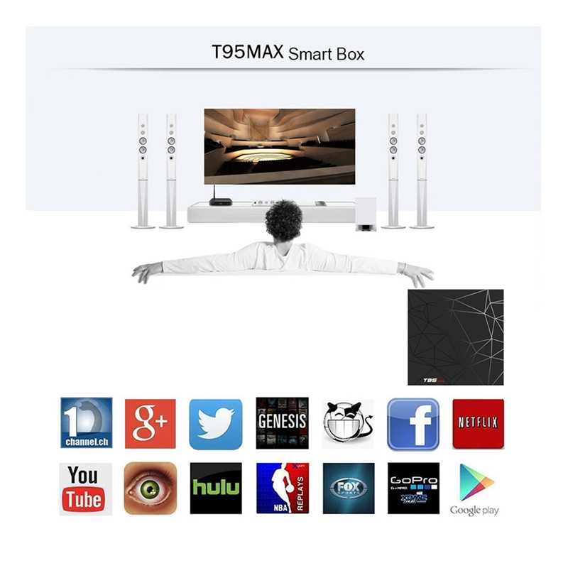 Android 9.0 Tv Box T95 Max Smart Tv Box Allwinner H6 Quad Core 6K Hdr 2.4Ghz Wifi G Oogle Player T95Max Set Top Box(Us Plug)Android 9.0 Tv Box T95 Max Smart Tv Box Allwinner H6 Quad Core 6K Hdr 2.4Ghz Wifi G Oogle Player T95Max Set Top Box(Us Plug)