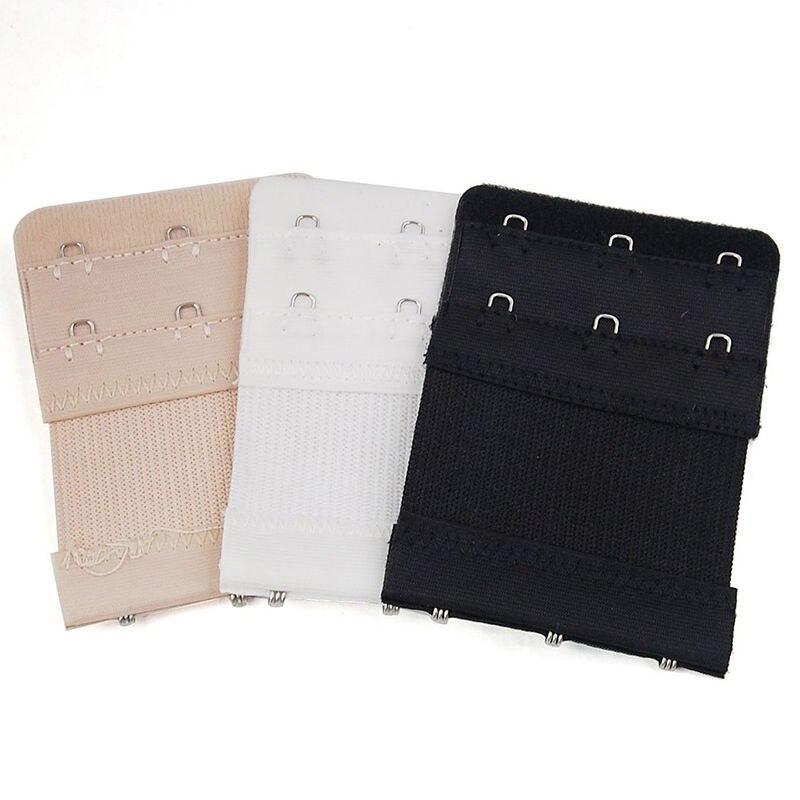 Bra Strap Extender 2 Rows 3 Hooks Nylon Bra Extenders Elastic Women Adjustable Clasp Bar Strap Connector Bra Accessories