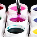 12pcs Solid Color 3D Nail Art Tips Extension Design Decoration Glaze UV Gel Builder Colorful DIY Wholesale