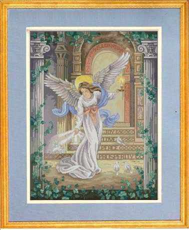 Top Quality Lovely Counted Cross Stitch Kit Millennium Angel Goddess and Dove Doves dim 3870