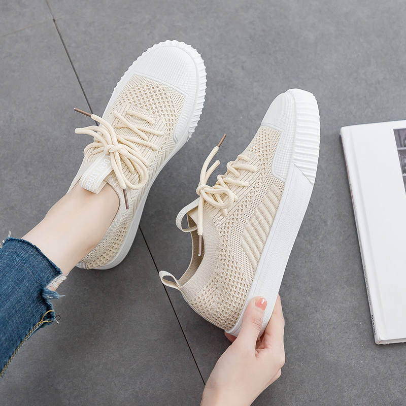 Mesh Sneakers Basket Femme Shoes Fashion Summer Lace-Up Woman Zapatillas High-Uqality