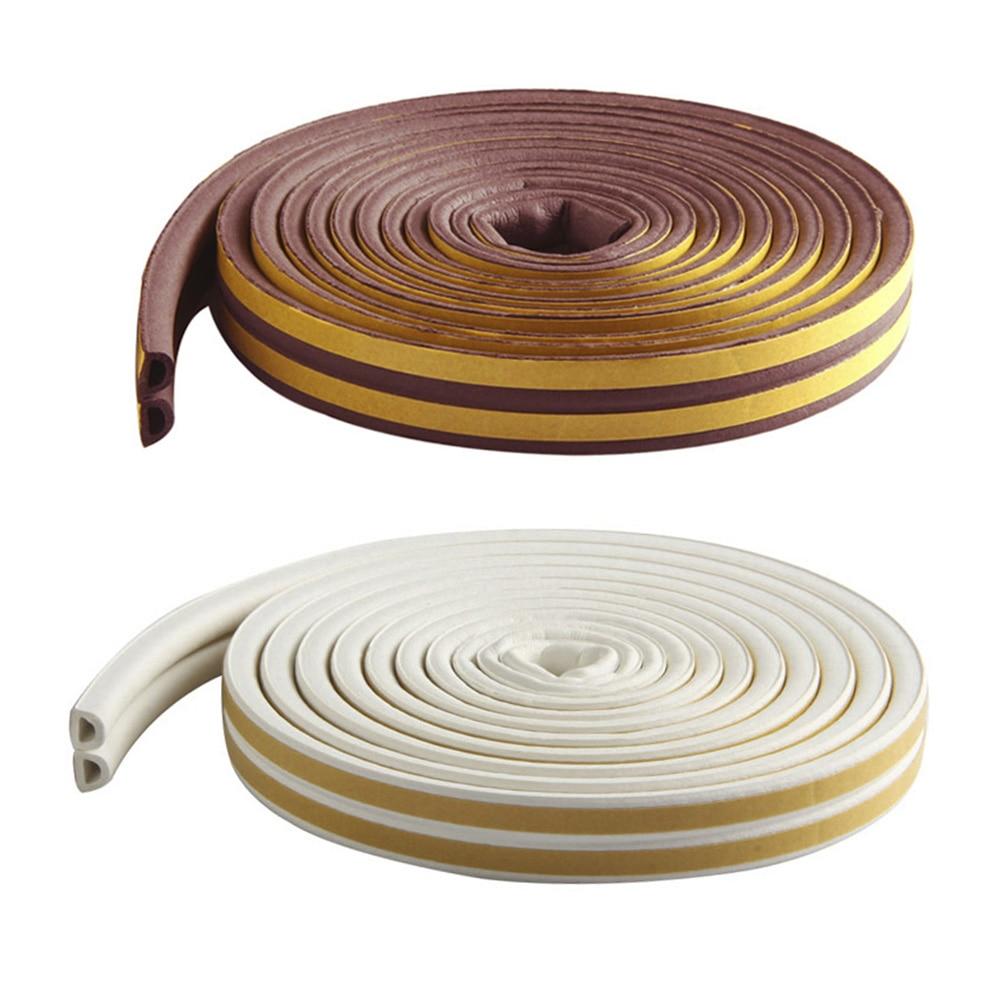 5M Self Adhesive D Type Doors & Windows Foam Seal Strip Soundproofing Collision Avoidance Rubber Seals Best Price