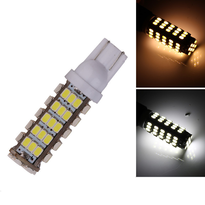 Super Bright!! <font><b>100x</b></font> <font><b>T10</b></font> 68 SMD 194 168 1206 68 SMD LED light Bulbs Super white Signal Light Wedge Light Bulb 12V Auto Lighting image