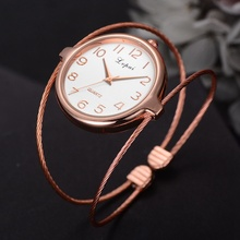 Multilayer Thin Steel Bangle Women's Watches