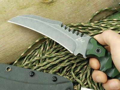 D2 steel font b knife b font Olecranon Tiger stripes claw font b knife b font