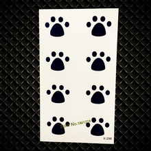 Small Lovely Tattoos For Kids Children GYF-039 Little Cat Dog Footprints Pattern Sexy Lady Waterproof Temporary Tattoo Stickers