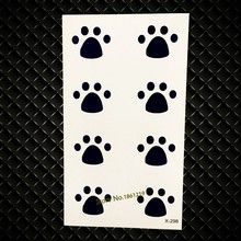 Small Lovely Tattoos For Kids Children GYF-039 Little Cat Dog Footprints Pattern Sexy Lady Waterproof Temporary Tattoo Stickers(China)